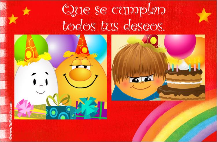 Tarjeta - Deseos de cumpleaños