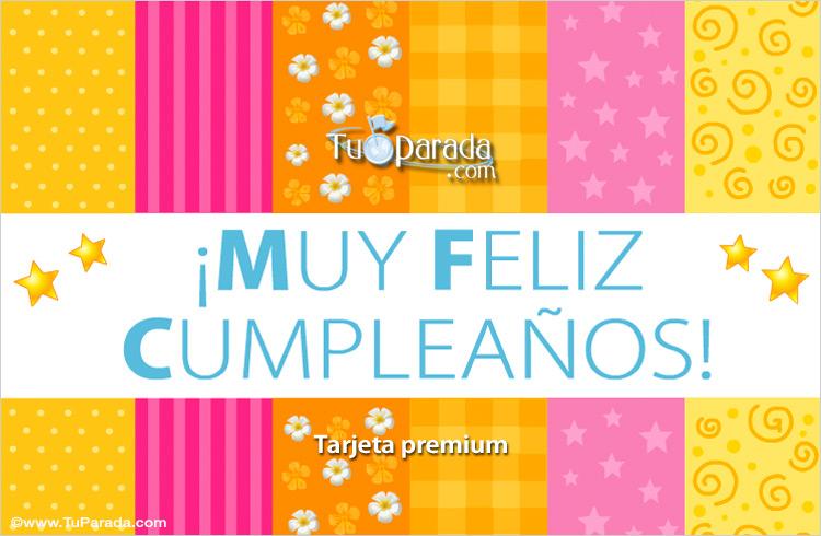 Tarjeta - Celebración de cumpleaños