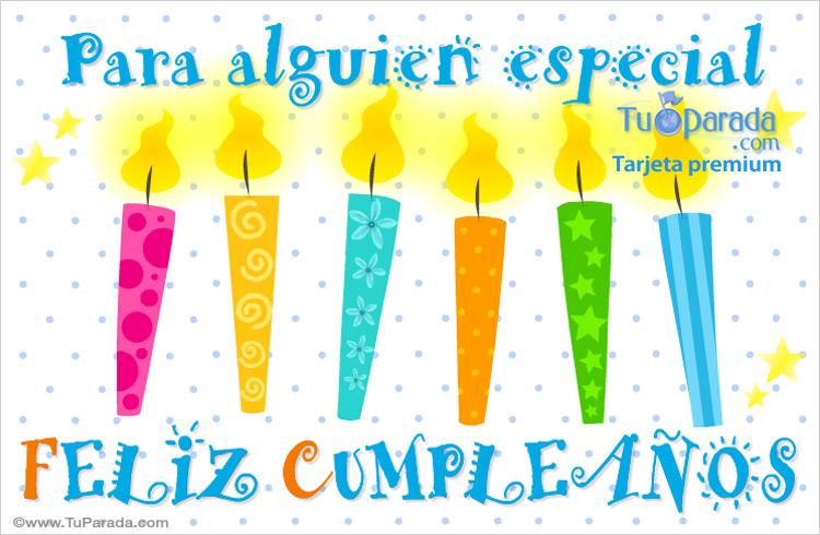 Tarjeta - Tarjeta con velas de cumpleaños