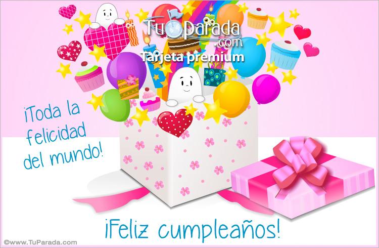 Tarjeta - Regalo sorpresa de cumpleaños