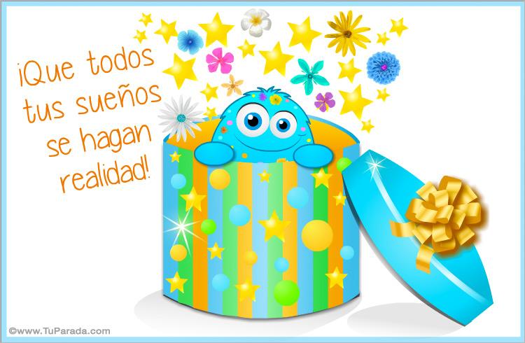 Tarjeta - Regalo de cumpleaños con varita mágica