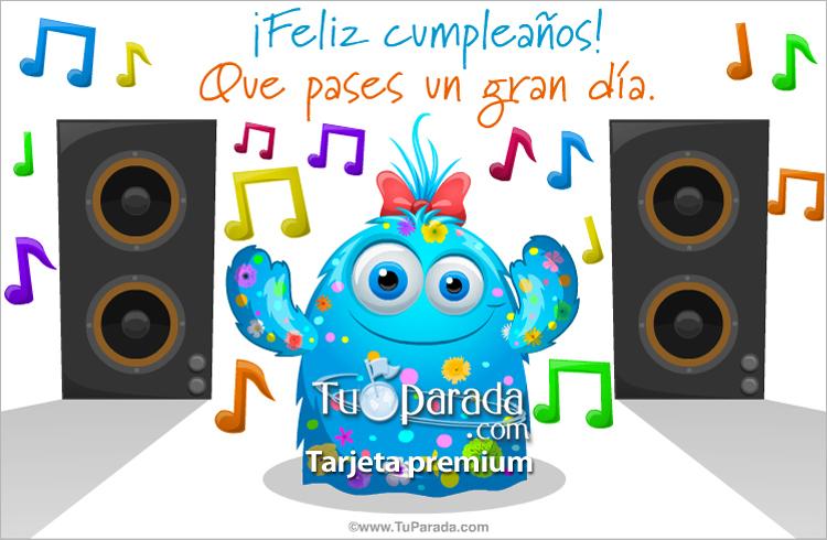 Tarjeta - Tarjeta bailada de cumpleaños