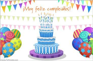 Torta especial de cumpleaños