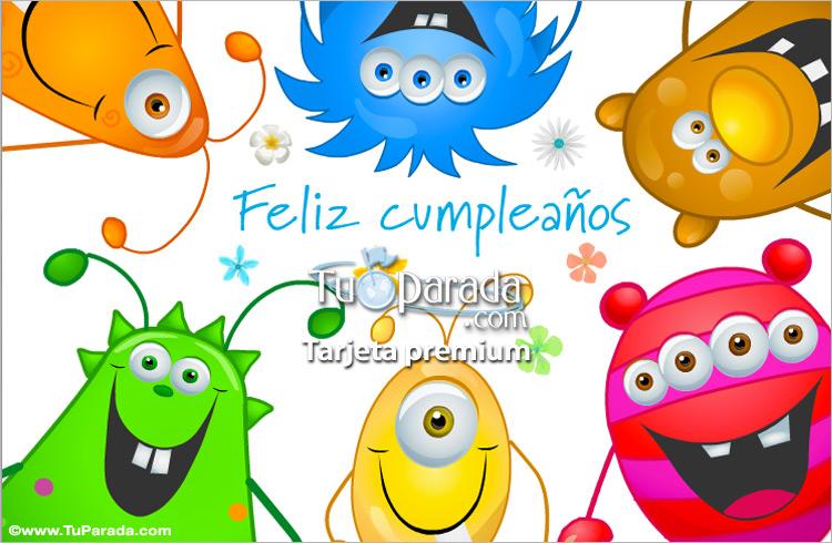Tarjeta - Feliz cumpleaños de grupo divertido