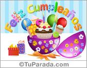 Tarjeta animada con sorpresa de cumpleaños circular.