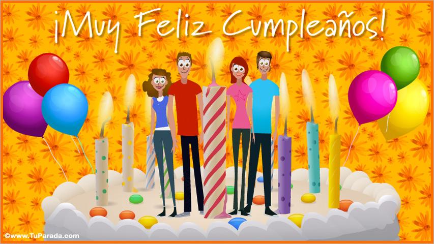 Tarjeta - Tarjeta de amigos - Velas de cumpleaños