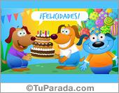 Tarjeta de feliz cumpleaños para enviar a una gran persona.