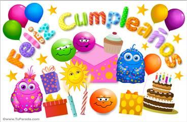 Tarjeta de cumpleaños - Sorpresas