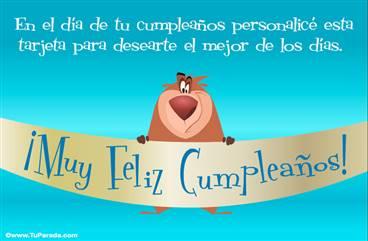 Feliz cumpleaños para amigos