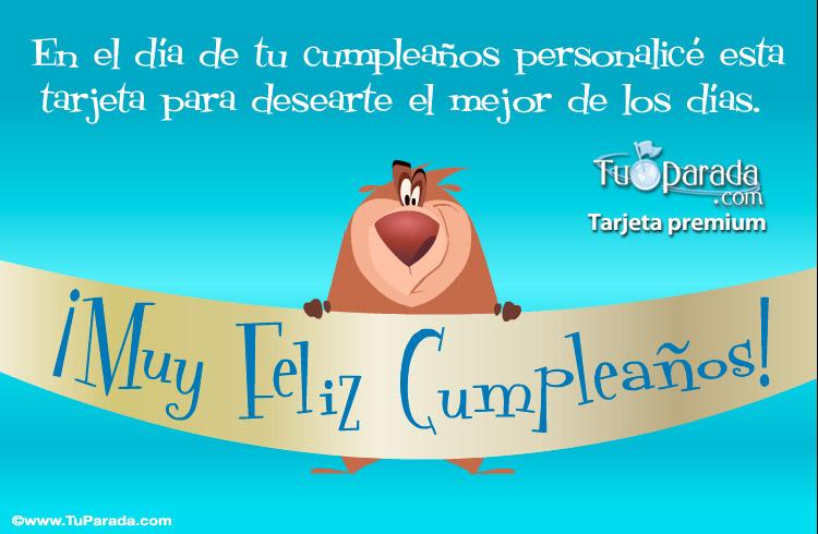 Tarjeta - Feliz cumpleaños para amigos