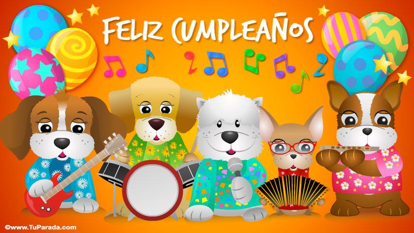 Tarjeta animada musical de feliz cumpleanos