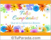 Tarjeta de cumpleaños - Flores