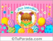 Tarjetas, postales: Cumpleaños para niñas