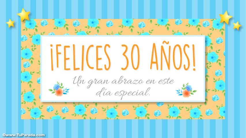 Tarjeta De 30 Años Cumpleaños Tarjetas