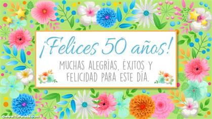 Tarjeta de felices 50 años