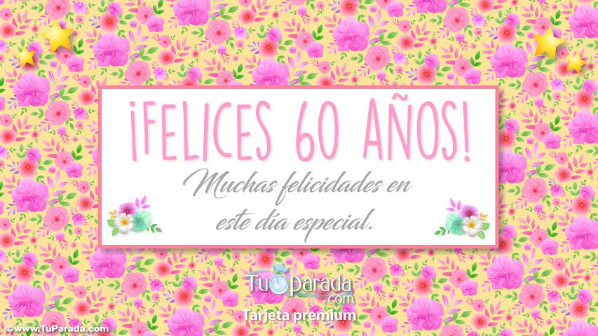 Tarjeta - Felices 60 años