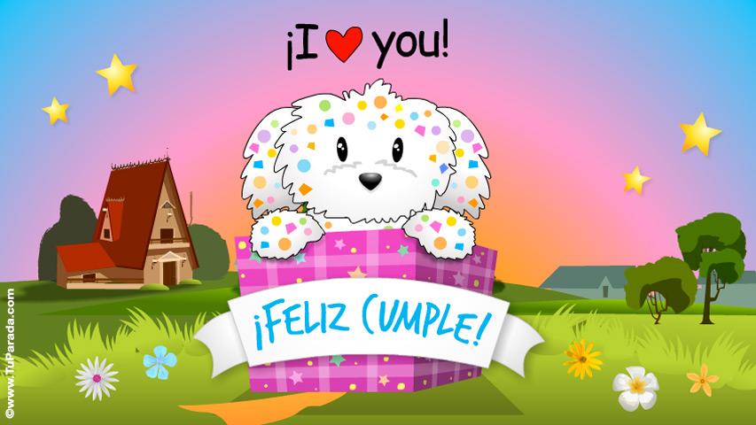 Tarjeta - Tarjeta saludo de cumpleaños sorpresa
