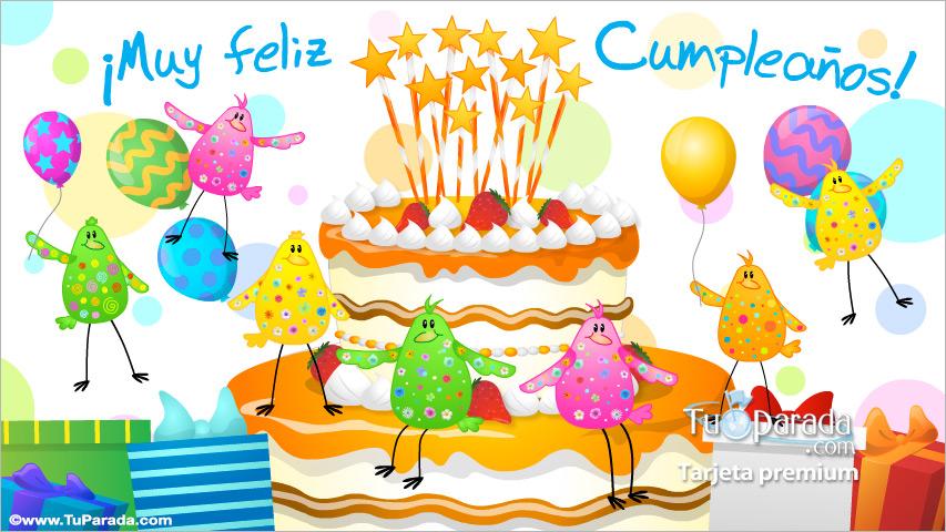 Tarjeta - Postal animada de feliz cumpleaños