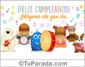 Tarjetas postales: Tarjeta de cumpleaños con orquesta