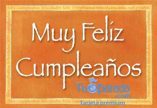 Tarjeta - Muy feliz cumpleaños
