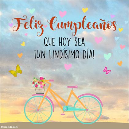 Feliz cumpleaños y los mejores deseos