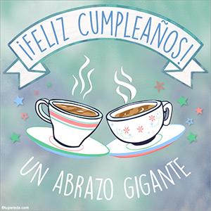 Cumpleaños con un rico café