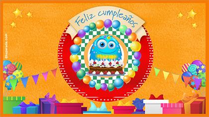 Tarjeta de cumpleaños animada para desear lo mejor.