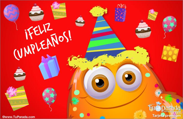 Tarjeta - Deseos de feliz cumpleaños