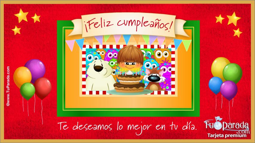 Tarjeta - Feliz cumpleaños de todos nosotros