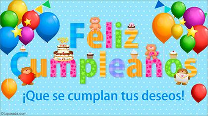 Tarjeta de cumpleaños: Que se cumplan tus deseos