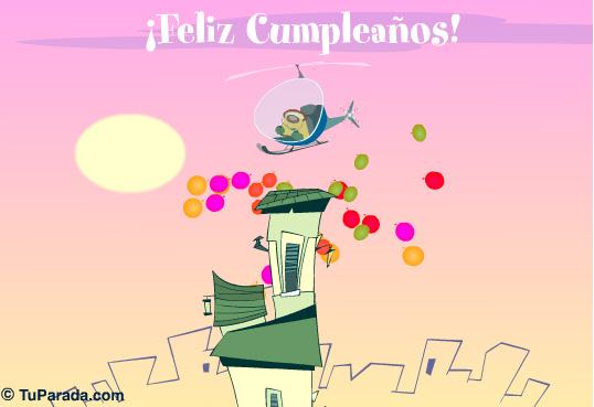 Tarjeta - Globos de cumpleaños