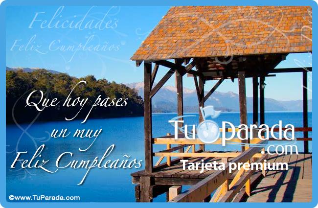 Tarjeta - Feliz Cumpleaños con paisaje