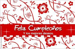 Feliz Cumpleaños floreado