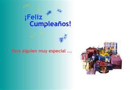 Feliz cumpleaños con muchos regalos