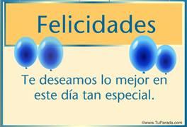 Felicidades especiales con globos