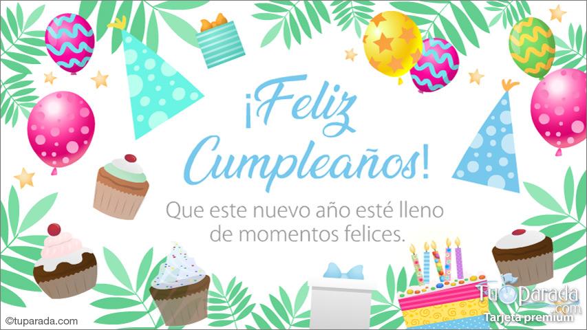Tarjeta - Los mejores deseos para tu cumpleaños