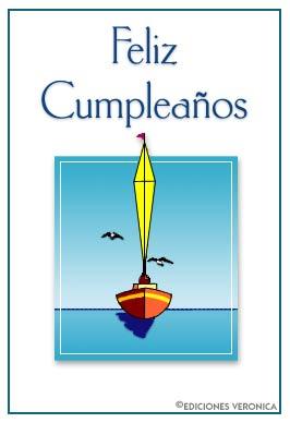 Tarjeta - Feliz cumpleaños con velero