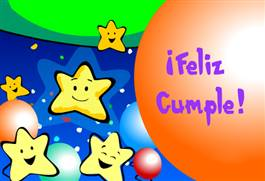 Cumpleaños con estrellas.