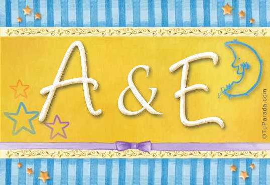 Tarjeta de iniciales A - E