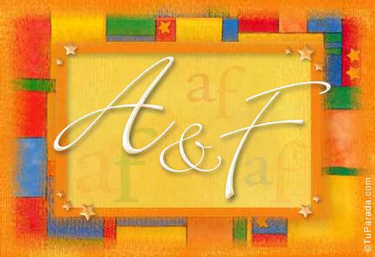Tarjetas, postales: Iniciales de nombres