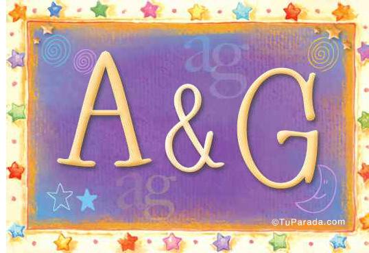 Tarjeta de iniciales A - G
