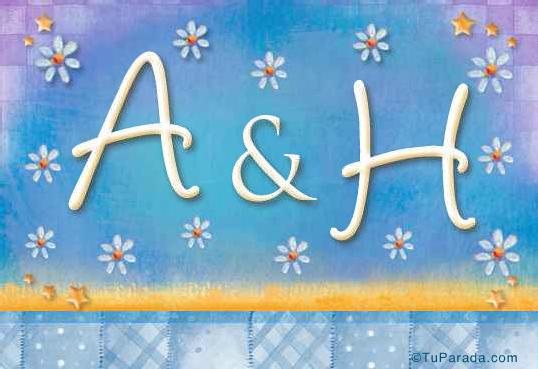 Tarjeta de iniciales A - H
