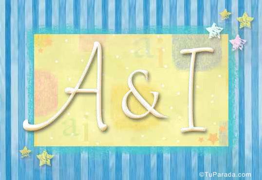 Tarjeta de iniciales A - I