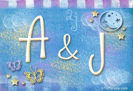 Tarjeta de iniciales A - J