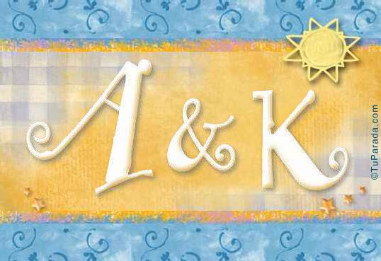 Tarjeta de iniciales A - K