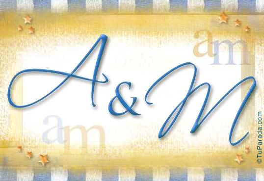 Tarjeta de iniciales A - M