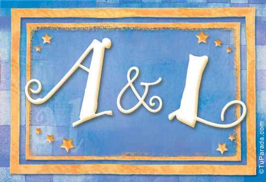 Tarjeta de iniciales A - L