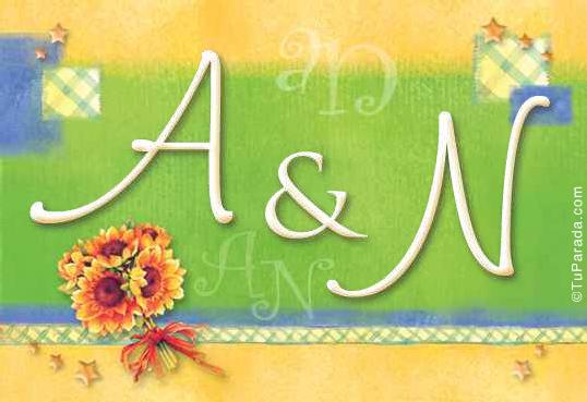 Tarjeta de iniciales A - N