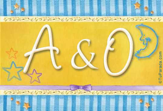 Tarjeta de iniciales A - O