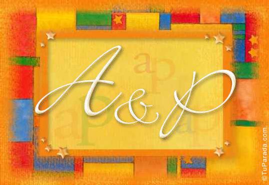 Tarjeta de iniciales A - P